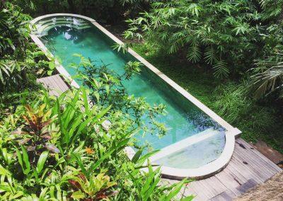 swimming pool at Shanti Toya Ashram